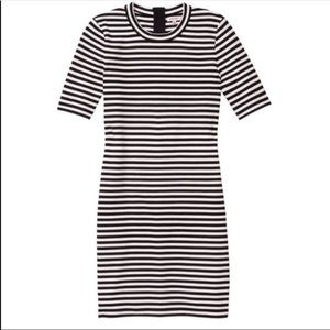 Aritzia Sunday Best Striped Bodycon Dress